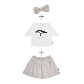 Skirt Linnen & Boxy Top  Pino met of zonder linnen haarband