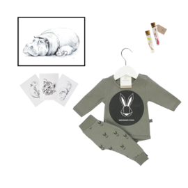 Newborn Set Olive with lifestyle item of your choice - from €19,50