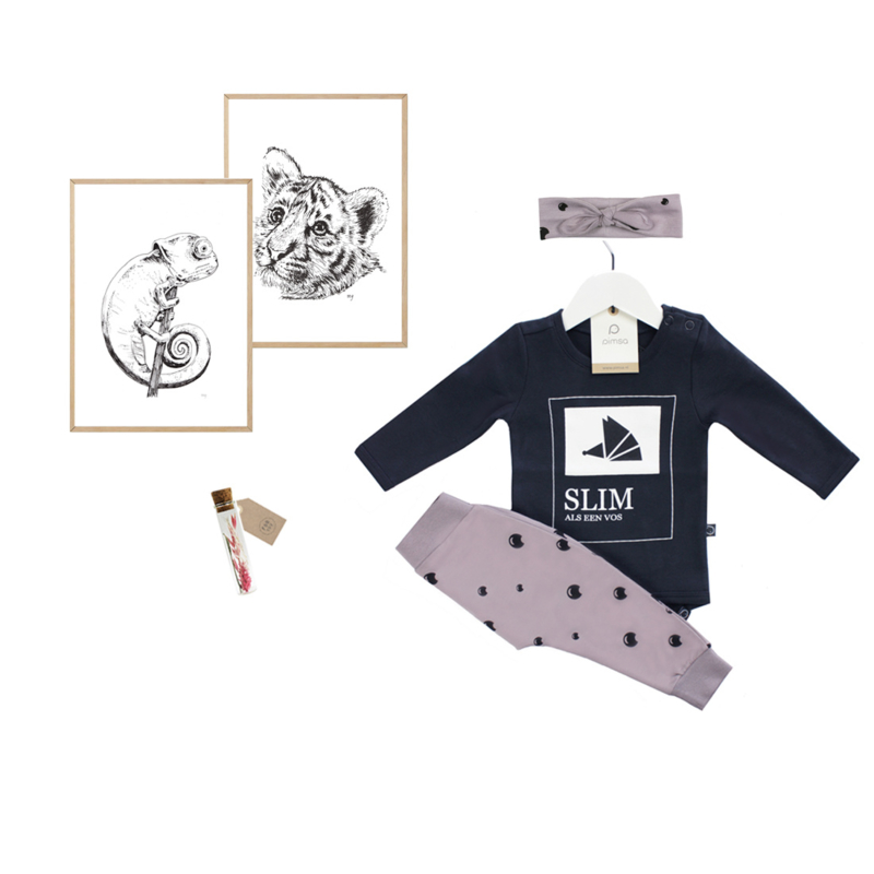 Newborn Set Purple Dove  with lifestyle item of your choice - from €19,50