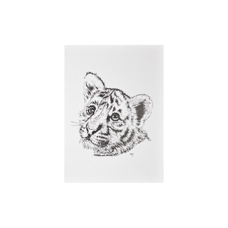 Kaartje -  Baby Tiger