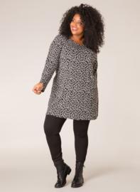 Ivy Bella luipaard shirt  zwart wit