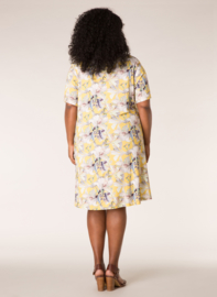 Ivy Bella luchtige jurk zomers geel.