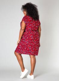 Zomers jurkje rood/zwart van By Bella