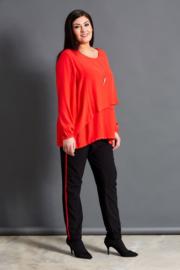 Studio Baggy broek met rode  streep