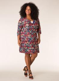 Ivy Bella jurk met overslag look purple multi colour