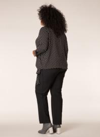 Ivy Bella blouse zwart met witte stippen