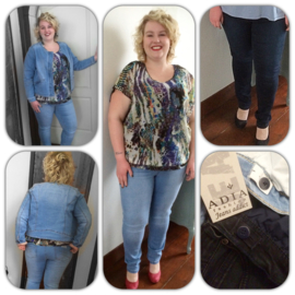 Adia Jeans Milan in 2 kleuren verkrijgbaar dark blue en blue sand 82cm