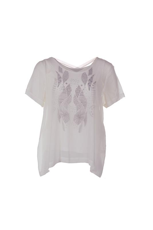 Adia wit shirt met print