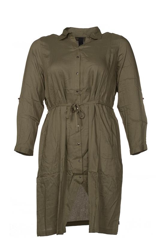 Adia Lange blouse verkrijbaar in groen of donkerblauw