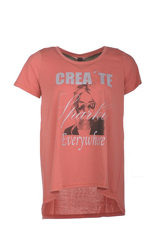 Adia Shirt verkrijgbaar in papaya en blue dust