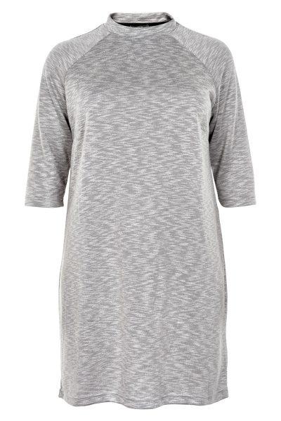 ZbyZ Sportieve grijs gemeleerde jurk
