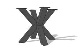 Dubbele X- of kruispoot