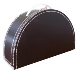 Koffertje halfrond Zwart 28 cm
