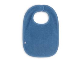 Badstof slabber - blauw -Jollein