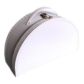 Koffertje halfrond Wit 28 cm