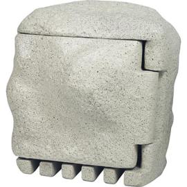 EVN kunststof energie steen 3 voudig IP44 met afstandsbediening