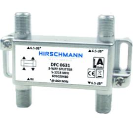 Hirschmann DFC 0631 verdeler 3 voudig met F connector