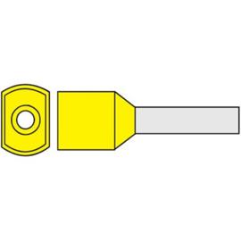 Twin adereindhuls 1.00 mm² geïsoleerd 8 mm geel TAHG1.00N
