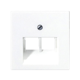 AS500 inzetplaat 2 x outlet RJ45 RAL1013 crème