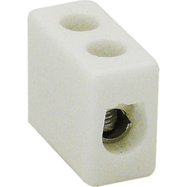 GBO kroonsteen porselein 4 mm² enkel 450 Volt 32 Ampère 350°C