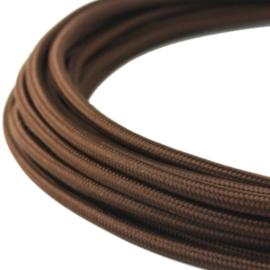 Textielsnoer 3-LiY-Uf 3 x 0,75 mm² bruin per meter