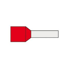 Adereindhuls 1.00 mm² geïsoleerd 6 mm rood AHR1.00K