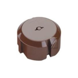 Teddy stopcontact beveiliger kleur bruin set à 5 stuks