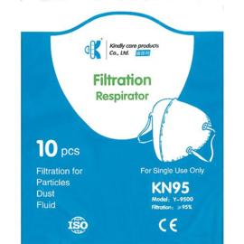 Fijnstofmasker FN95 (FFP2) vpe = 10 st.