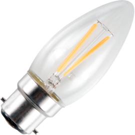 GBO LED - kaarslamp Ba22d helder 1.5 Watt 925 DB