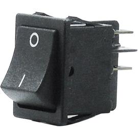 GBO inbouw wipschakelaar 2 polig zwart 0-1