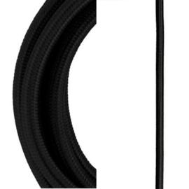 Bailey textielsnoer 2 x 0,75 mm² 3 meter kleur zwart