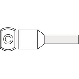 Twin adereindhuls 0.5 mm² geïsoleerd 6 mm wit TAHW0.50N