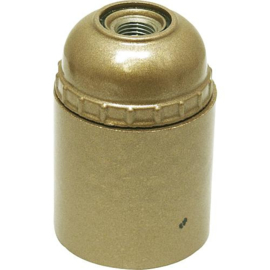 GBO fitting E27 goud kunststof glad