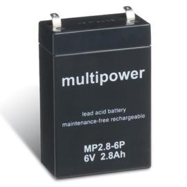 Multipower Loodgel Accu 6.0 Volt 2.8 Ah
