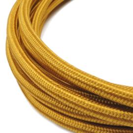 Textielsnoer 3-LiY-Uf 3 x 0,75 mm² goud per meter