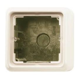 Jung opbouwrand CD581AW met afdekraam 1-voudig crème