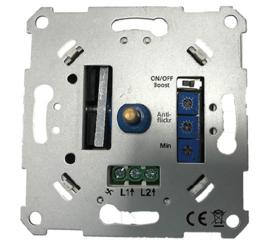 GBO universele (LED) inbouwdimmer 0 - 200 Watt compleet