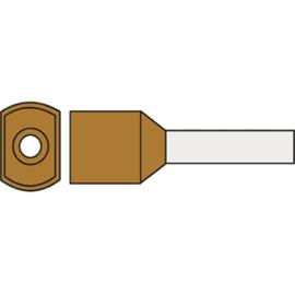 Twin adereindhuls 10.0 mm² geïsoleerd 14 mm bruin TAHBR10.00N
