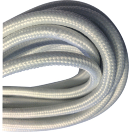 Textielsnoer 2 x 0,75 mm² wit 10 meter