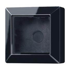 Jung opbouwrand AS581ASW met afdekraam 1-voudig zwart