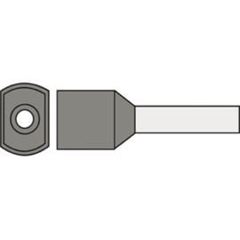 Twin adereindhuls 2.5 mm² geïsoleerd 10 mm grijs TAHGRS2.50N