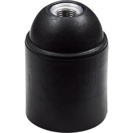 GBO fitting E27 zwart kunststof glad