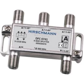 Hirschmann DFC 0741 verdeler 4 voudig met F connector