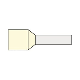 Adereindhuls 10.00 mm² geïsoleerd 12 mm crème AHCR10.00N