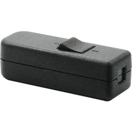 GBO snoerschakelaar 1 polig zwart 0-1 laagspanning