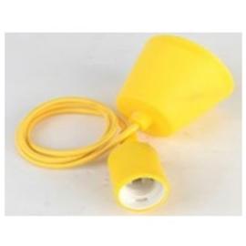 GBO snoerpendel 1.0 meter geel E27 met plafondkap
