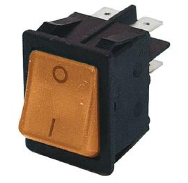 GBO inbouw wipschakelaar 2 polig zwart + controle oranje 0-1