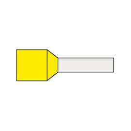 Adereindhuls 1.00 mm² geïsoleerd 6 mm geel AHG1.00K