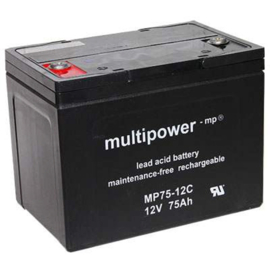 Multipower Loodgel Accu 12.0 Volt 75.0 Ah