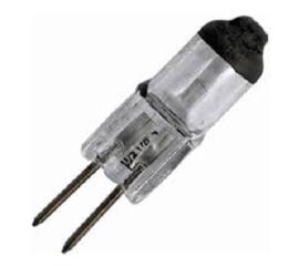 GBO halogeen insteeklampje helder + balck top 5.8 Volt 5 Watt G4 ø 9 x 30 mm